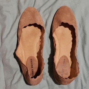 Audrey Brooke Scalloped Flats Size 11W